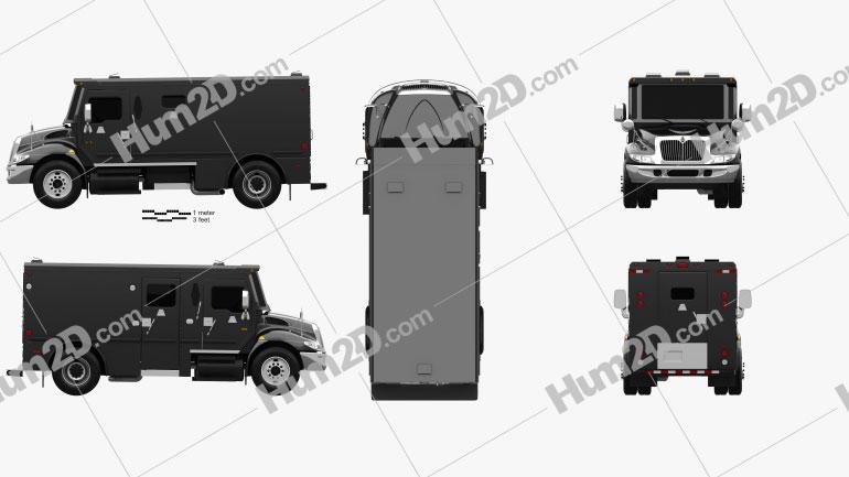 International Durastar Armored Cash Truck 2002 clipart