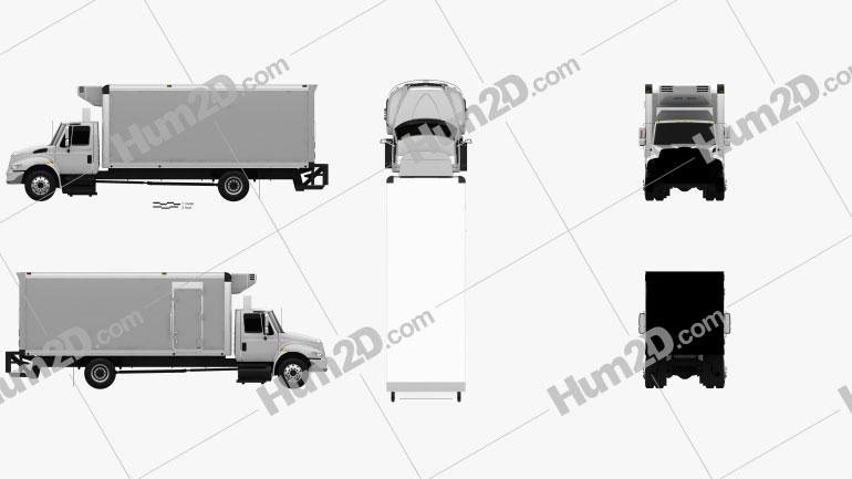 International Durastar Box Truck 2002 clipart