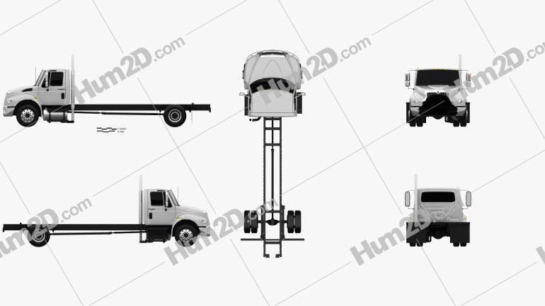 International Durastar Chassis Truck 2002 clipart