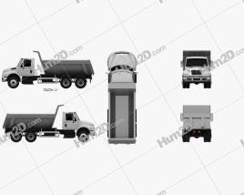 International DuraStar Dump Truck 3-axle 2002 clipart