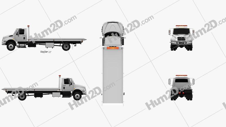 International DuraStar Tow Truck 2002 clipart