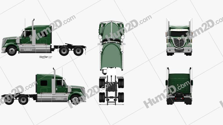 International LoneStar Caminhão trator 2008 Imagem Clipart
