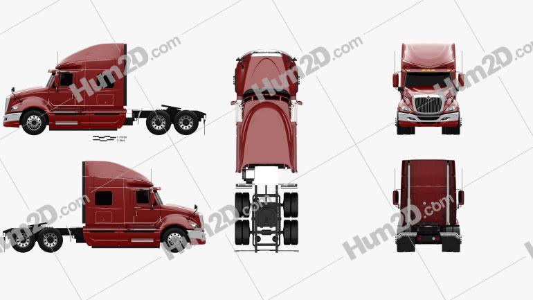 International ProStar Tractor Truck 2009 clipart