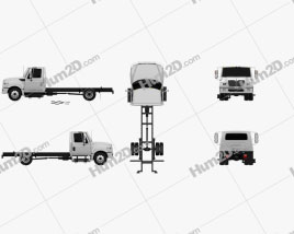 International TerraStar Chassis Truck 2010 clipart