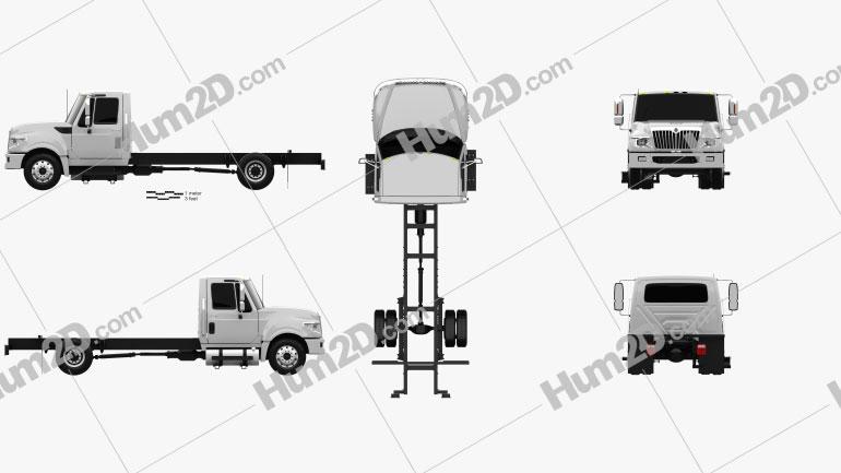 International TerraStar Chassis Truck 2010 Clipart Image