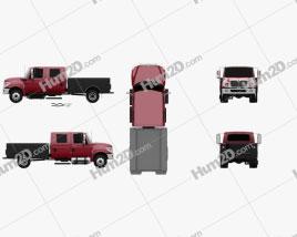 International TerraStar Double Cab Service Truck 2010 clipart