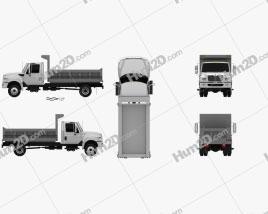 International TerraStar Dump Truck 2010 clipart