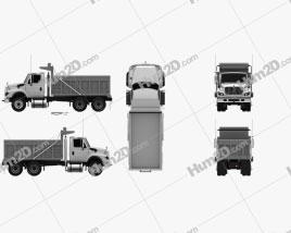 International WorkStar Dump Truck 2008 clipart