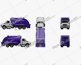 International WorkStar Garbage Truck Rolloffcon 2008