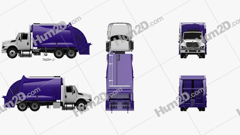 International WorkStar Garbage Truck Rolloffcon 2008 clipart