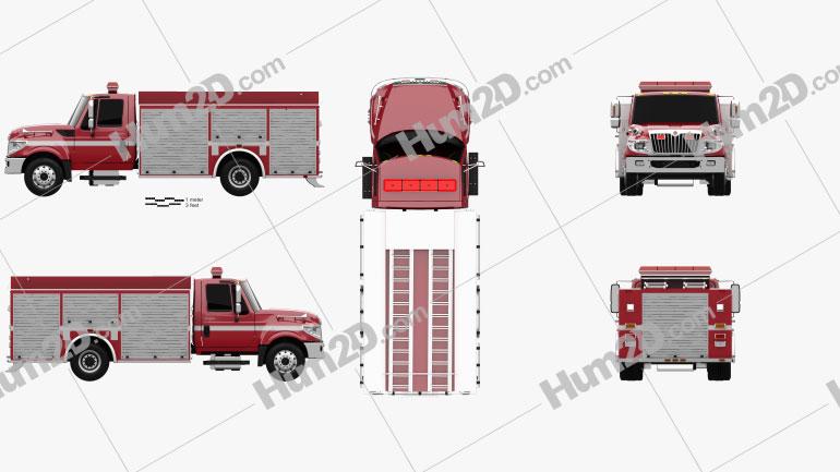International TerraStar Firetruck 2010 clipart