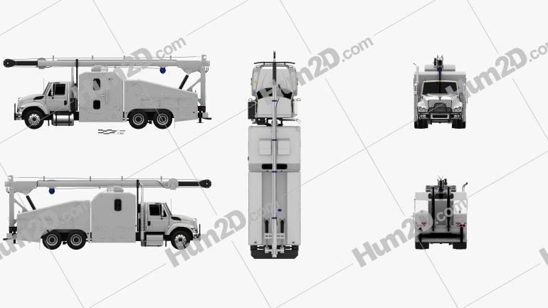 International WorkStar Crane Truck 2014 clipart