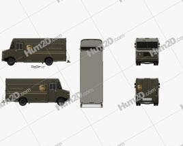 International 1552SC P70 UPS Truck 2015