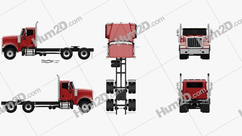 International HX520 Tractor Truck 2016 Clipart Image