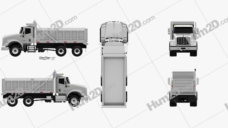 International HX615 Tipper Truck 2016 Clipart Image