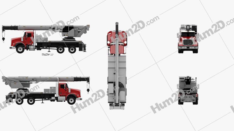 International HX620 Crane Truck 2016 clipart