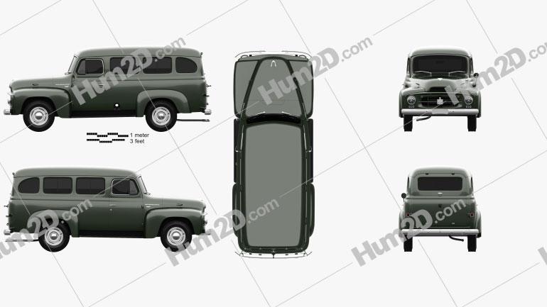 International Harvester R-110 Travelall 1953 clipart
