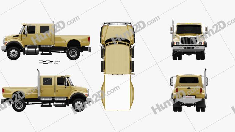 International CXT Pickup Truck 2005 clipart