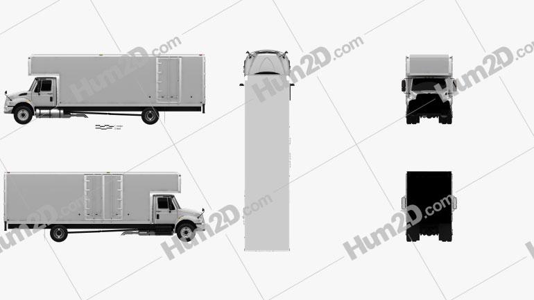 International Durastar 4700 Box Truck 2010 clipart