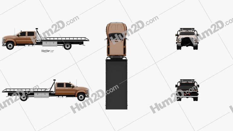 International CV Crew Cab Rollback Truck 2018 clipart