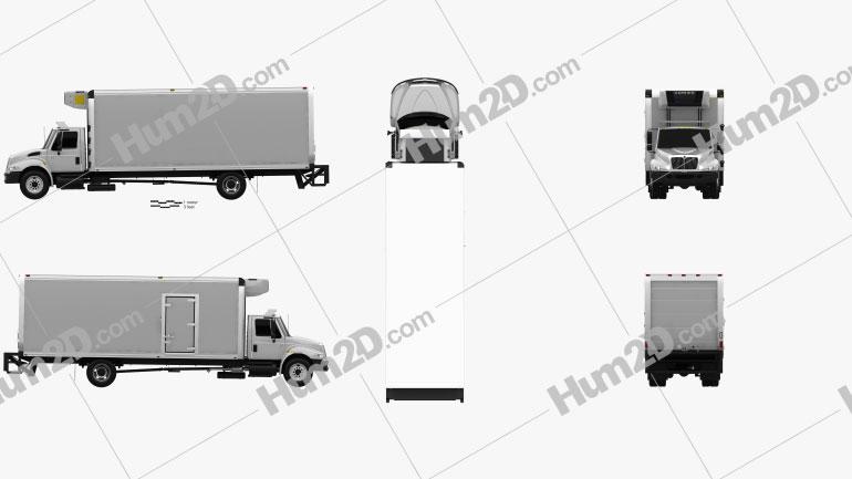 International Durastar 4300 Refrigerator Truck 2007 Clipart Image