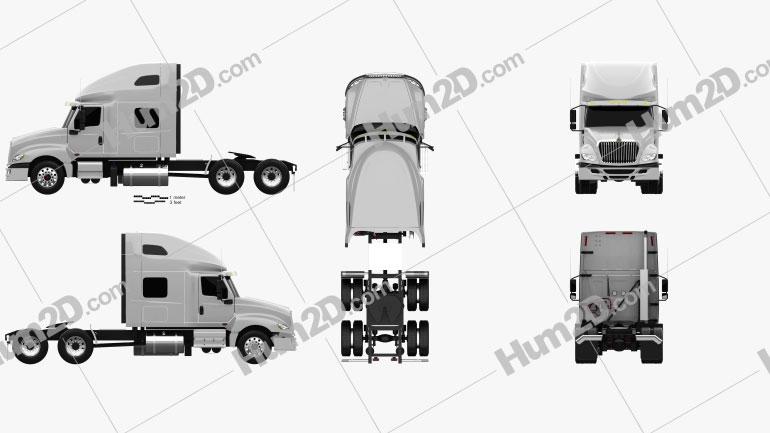 International LT Tractor Truck 2018 clipart