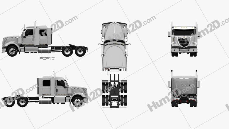 International Lonestar 56 Low Rise Sleeper Cab Tractor Truck 2008 clipart
