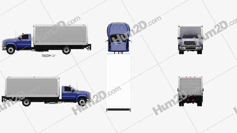 International CV Day Cab Dry Van 2018 clipart