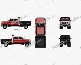 International CV Crew Cab Landscape Dump Truck 2018 Clipart