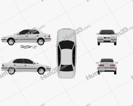 Iran Khodro Samand 2011 car clipart