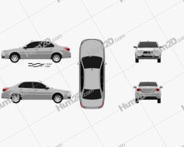 Iran Khodro Dena 2015 car clipart