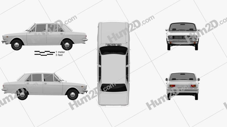Iran Khodro Paykan 1967 car clipart