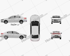 Iran Khodro K132 2020 car clipart