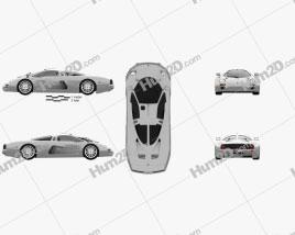 Isdera Silver Arrow C112i Prototype 1999 car clipart