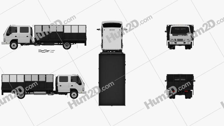 Isuzu NPR Dump Truck 2011 Clipart Image
