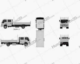 Isuzu NPR Tipper Van Truck 2011