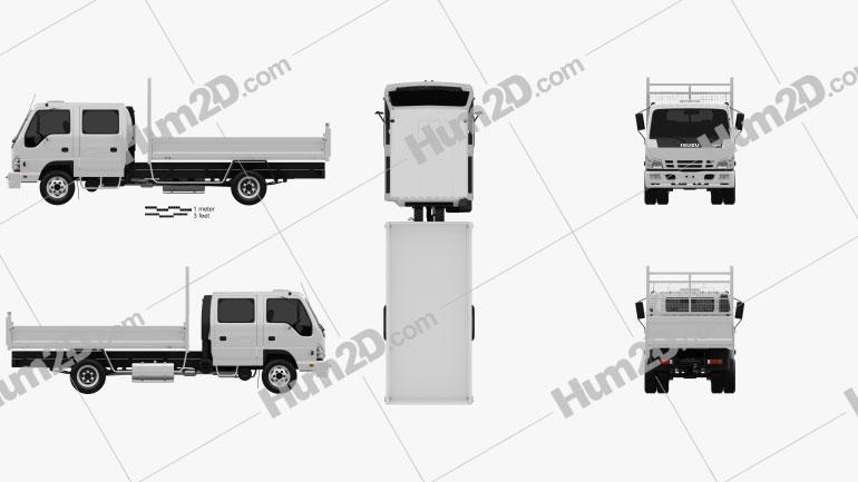 Isuzu NPR Tipper Van Truck 2011 clipart