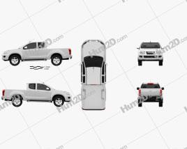Isuzu D-Max Extended Cab 2012 Clipart