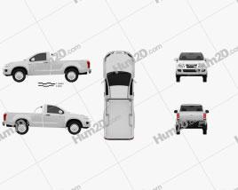 Isuzu D-Max Single Cab 2012 car clipart
