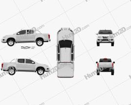 Isuzu D-Max Double Cab 2012 car clipart