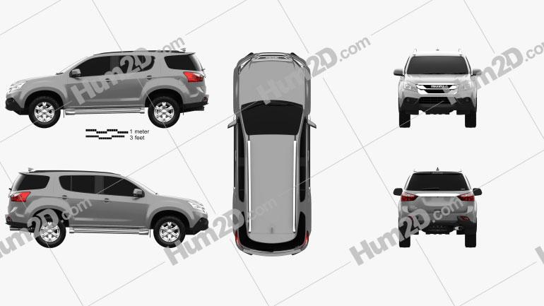 Isuzu MU-X 2013 car clipart