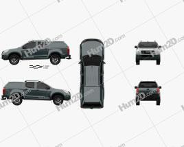 Isuzu D-Max Double Cab Huntsman 2014 car clipart