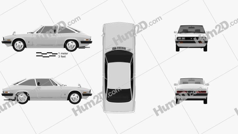 Isuzu 117 (PA90) Coupe 1977 car clipart