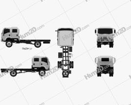 Isuzu FTS 800 Crew Cab Chassis Truck 2014