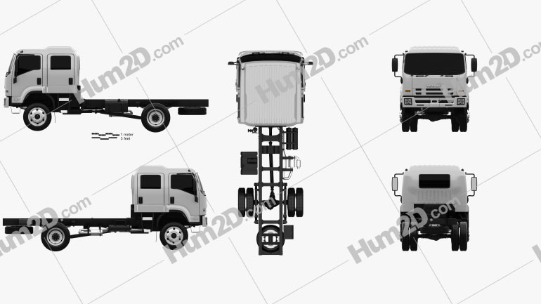 Isuzu FTS 800 Crew Cab Fahrgestell LKW 2014 clipart