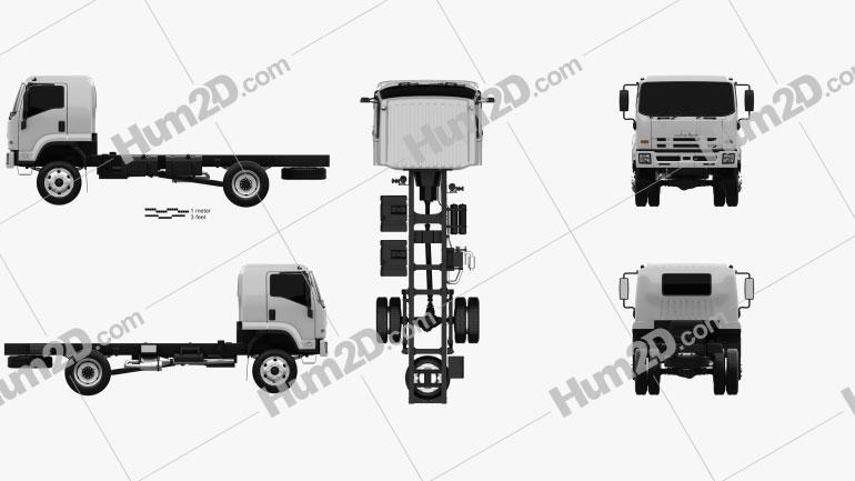 Isuzu FTS 800 Einzelkabine Fahrgestell LKW 2014 clipart
