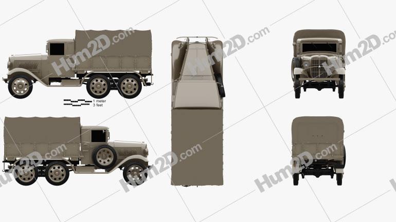 Isuzu Type 94 Truck 1934 clipart