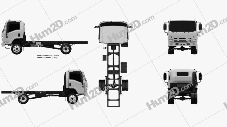 Isuzu NPS 300 Chassis Truck 2015 Clipart Image
