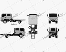 Isuzu NPS 300 Crew Cab Chassis Truck 2015