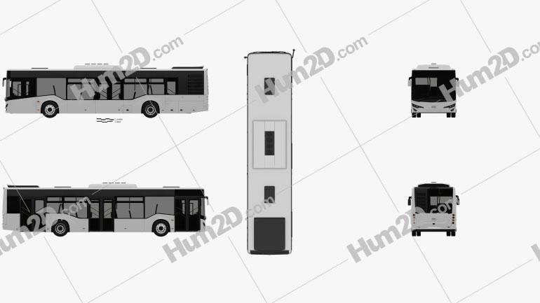 Isuzu Citiport Bus 2015 Clipart Image